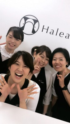 Halea(ハレア)のサロンスタッフ達は、かなり鍛えられてるね。笑